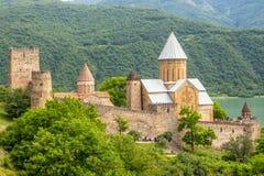 Замок Ananuri, комплекс замка на реке Aragvi в Georgia Стоковое Изображение