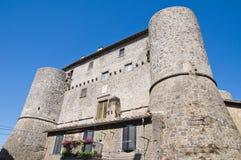 Замок Anguillara. Ronciglione. Лацио. Италия. Стоковые Фото