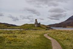 Замок Ardvreck в Шотландии Стоковая Фотография RF