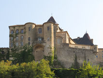 Замок Aubenas, Ardeche, Провансаль, Франция Стоковая Фотография RF