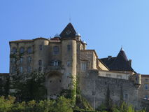Замок Aubenas, Ardeche, Провансаль, Франция Стоковое фото RF