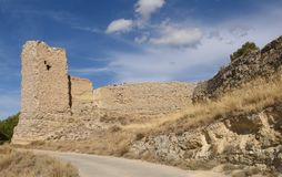 Замок Ayab в провинция Calatayud, Сарагосе, Арагон, Испания стоковое фото rf