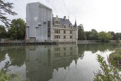 Замок Azay le Rideau в Loire Valley Стоковые Изображения