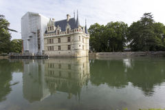 Замок Azay le Rideau в Loire Valley Стоковое Изображение