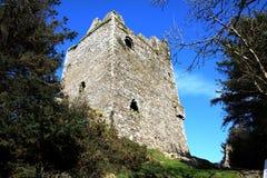 Замок Ballinacarriga в западной пробочке Ирландии стоковая фотография