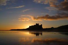 замок bamburgh Стоковое Изображение