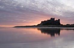 замок bamburgh Стоковое фото RF