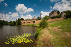 Замок Barbe Bleue в Tiffauges в Vendee Стоковые Изображения RF
