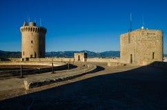 Замок Bellver в Palma de Mallorca Стоковое Изображение
