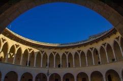 Замок Bellver в Palma de Mallorca E Стоковое Фото