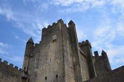 Замок Beynac в Perigueux (Франции) в июле 2013 стоковые фото
