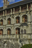 Замок Blois в Луаре et Шере Стоковое Изображение RF