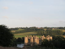 Замок Bodiam, восточное Сассекс Стоковые Изображения RF