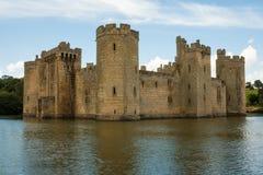 Замок Bodiam, Bodiam, Кент, Великобритания стоковое фото rf