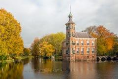 Замок Bouvigne сказки голландский в сезоне осени стоковая фотография