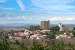 Замок Braganca в Braganca, Португалии Стоковое Изображение RF