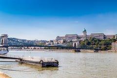 Замок Buda и цепной мост Стоковое Изображение