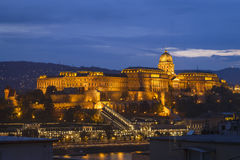 Замок Buda на сумраке Стоковое фото RF