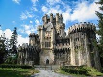 Замок Butron, Баскония, Испания Стоковое Изображение