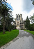 Замок Butron, Баскония, Испания Стоковое фото RF