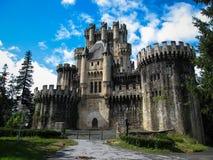 Замок Butron, Баскония, Испания Стоковые Фото