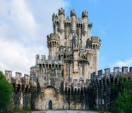 Замок Butron, Испания Стоковая Фотография