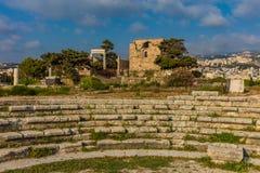 Замок Byblos Jbeil Ливан крестоносца стоковое фото rf