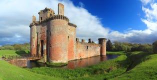 Замок Caerlaverock, Дамфрис & Galloway, Шотландия Стоковые Фотографии RF