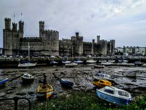 Замок Caernarforn стоковые фотографии rf