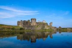 Замок Caerphilly, южный уэльс, Великобритания стоковое фото