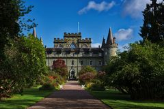 Замок Campbell Inverary клана Стоковые Изображения