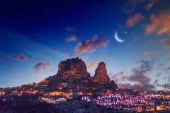 замок cappadocia uchisar стоковые фотографии rf