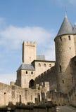 замок carcassonne comtal Стоковое Изображение RF