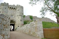 замок carisbrooke стоковое фото