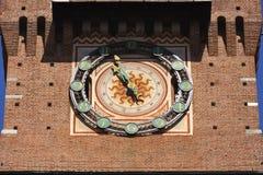 Замок Castello Sforzesco Sforza в милане, Ломбардии, Италии, 13 Стоковое Фото