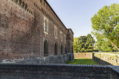 Замок Castello Sforzesco Sforza в милане, Ломбардии, Италии, 13 Стоковое фото RF