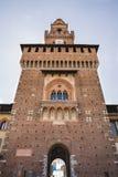 Замок Castello Sforzesco Sforza в милане, Ломбардии, Италии, 13 Стоковые Фото