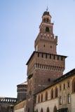 Замок Castello Sforzesco Sforza в милане, Ломбардии, Италии, 13 Стоковые Изображения RF