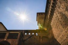 Замок Castello Sforzesco Sforza в милане, Ломбардии, Италии, 13 Стоковая Фотография