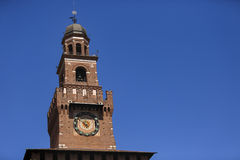 Замок Castello Sforzesco Sforza в милане, Ломбардии, Италии, 13 Стоковое Изображение RF