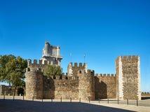 Замок Castelo de Beja alentejo Португалия Стоковое Изображение