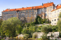 Замок Cesky Krumlov Стоковое фото RF