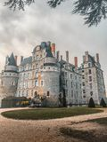 Замок/Château de Brissac стоковое изображение