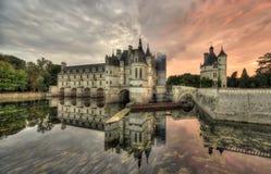Замок Chenonceau, франция Стоковое Изображение RF