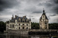 Замок Chenonceau, Loire Valley, Франция стоковые изображения rf