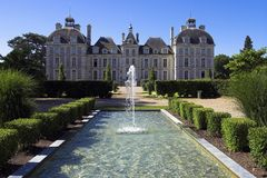 замок cheverny de Франция loire Стоковые Фотографии RF