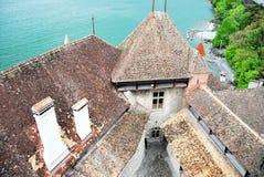 Замок Chillon в Монтрё Стоковые Фотографии RF