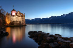 Замок Chillon, Монтрё, Швейцария Стоковые Изображения RF