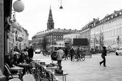 Замок Christiansborg, Копенгаген Стоковая Фотография