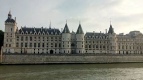 Замок Conciergerie - бывшие королевский дворец и тюрьма, Париж, Франция Стоковое Изображение